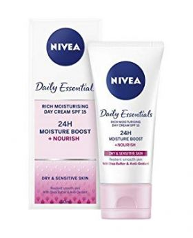 NIVEA Daily Essentials Rich Moisturising Day Cream SPF 15 50ml (France)