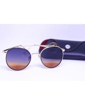 Fashionable Metal and Plastic Golden Sunglass