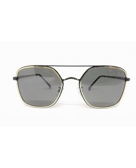 Metal-Plastic Metal Grey Sunglass for Men