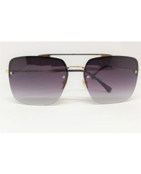 Metal-Plastic Golden Sunglass for Men