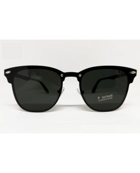 Metal and Plastic Polarized Black Sunglass
