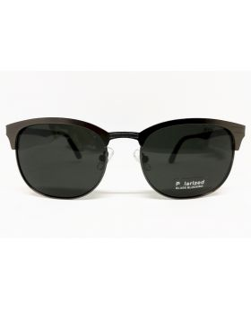 Metal and Plastic Polarized Grey Sunglass