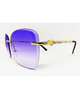 Metal & Plastic Gold Sunglass For Women