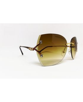 Metal & Plastic Brown Sunglass For Women