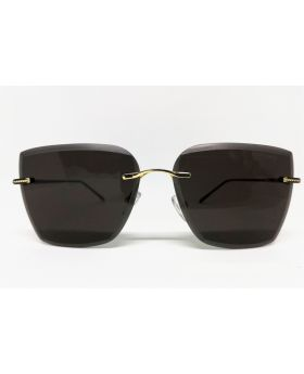 Metal & Plastic Black Rectangular Sunglass For Women