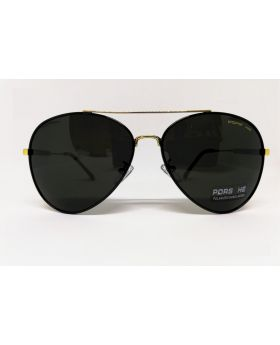 Stylish Porsche Replica Polarised Golden-Black Sunglass for Men