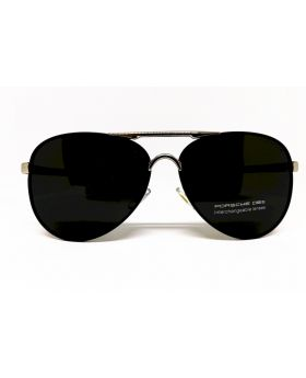 Porsche Replica Polarised Silver-Black Sunglass for Men
