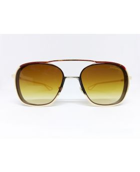 Metal & Plastic Golden Sunglass For Women