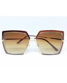 Metal & Plastic Mixed Color Rectangular Sunglass For Women