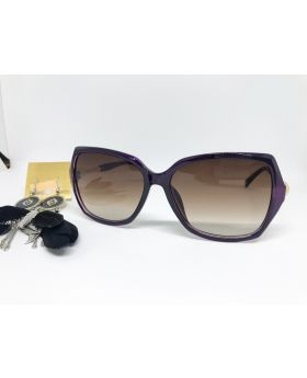 Metal & Plastic Dark Blue Sunglass For Women