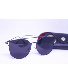 Metal-Plastic Stylish Black Sunglass for Men