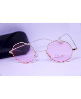 Metal Gold-Pink Sunglass For Women