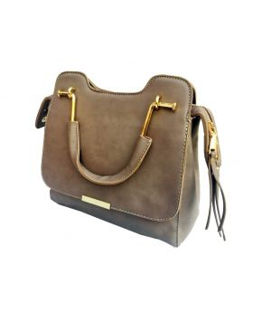 PU leather Square Shaped Flax Color Ladies Bag