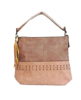 Artificial Leather Square Shaped Dark Almond Color Ladies Bag
