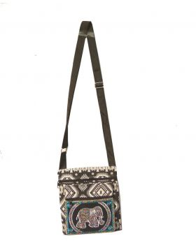 Beautiful Designed Fiber Square Shaped Colorful Ladies Shoulder Bag