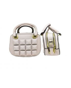 Artificial Leather Square Shaped Cotton Color Ladies Bag