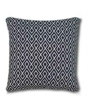 Polly Filler Cushion & Cotton Cover Set - Black & White