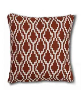 Polly Filler Brick Red Cushion & Cotton Cover Set