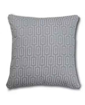 Silver Color Polly Filler Cushion & Cotton Cover Set