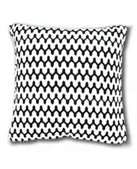Polly Filler Cushion & Cotton Cover Set - White & Black