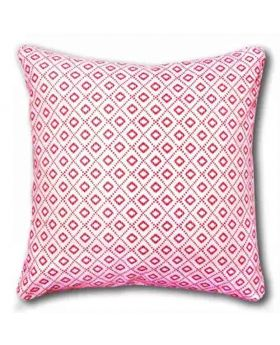 Polly Filler Cushion & Cotton Cover Set - White & Red