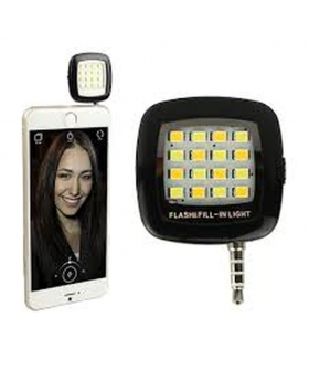 Portable LED Selfie Flash Light - White