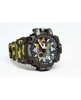Olive/ Army Green Camouflage color Silicon Strap Water Resistant Sports Watch for Men