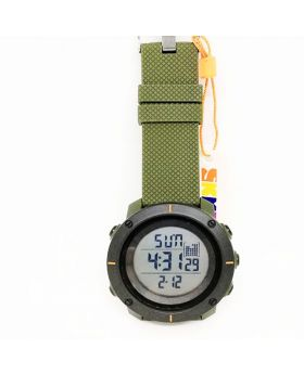 SKMEI Sports Watch, Army Green silicon Strap, Digital Watch Watch for Men
