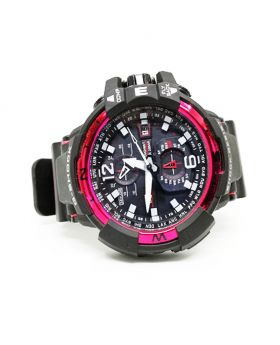 G-Shock Replica Sports Watch Chronograph Working Subdials Black silicon strap Red Bezel Watch for Men