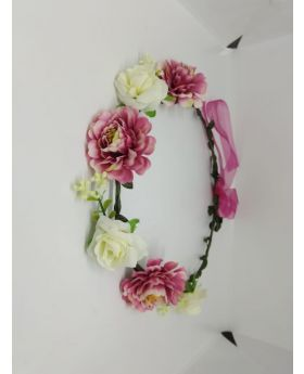 Festival Flower Floral Crown Headpiece White & Purple