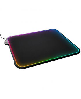 SteelSeries QcK Prism RGB Mousepad, Dual-Surface, 12-Zone Lighting with Gamesense