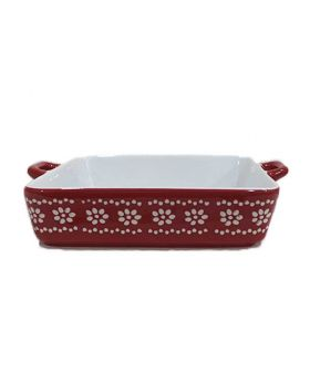 Red Ceramic Rice Dish 12 inch- 1 Pc