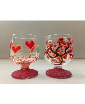 Love theme decorative shot glass