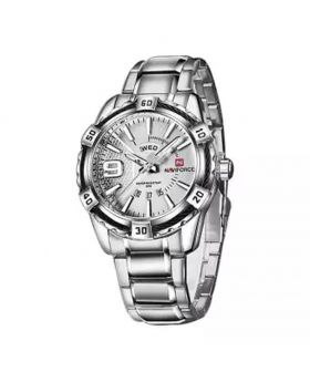 NaviForce NF9117S Date/Day Function Analog Watch - Silver