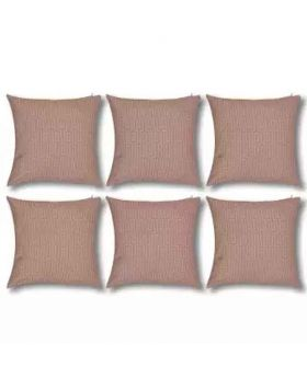Six Pieces Rose Color Cushion Cover Set