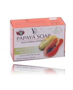 Yc 100gm Papaya Soap With Herbal Extract 2 double whitening plus