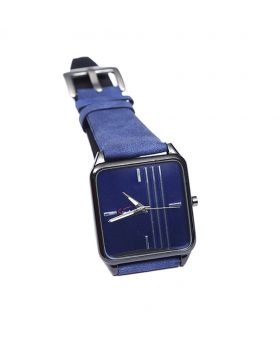 Signature ST02201-0052 Stainless Steel Leather  Belt Analogue Watch For Men