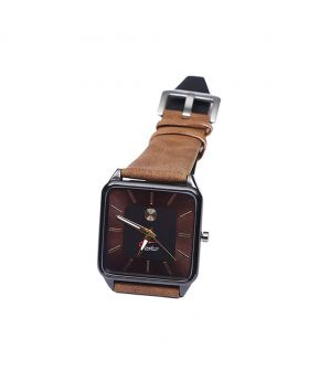 Signature ST02201-0054 Stainless Steel Leather  Belt Analogue Watch For Men