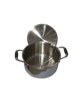 Stainless steel milk pot with lid 1pcs