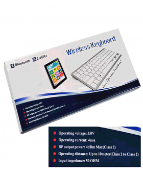 BK3001BA Wireless English Keyboard Aluminum Alloy