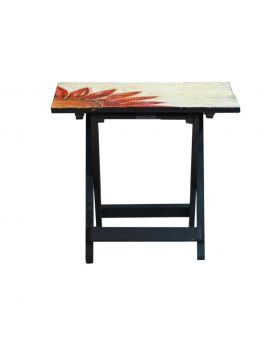 Hand Painted Wooden Folding Table Design No 1