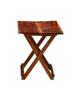 Hand Painted Wooden Folding Table Design No 6