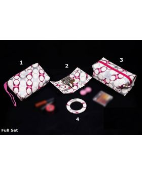 White Color Cosmetic & toiletry Bag set. (4 in 1)