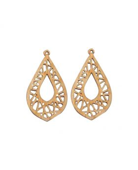 Armenian Water Drop Wooden Earring