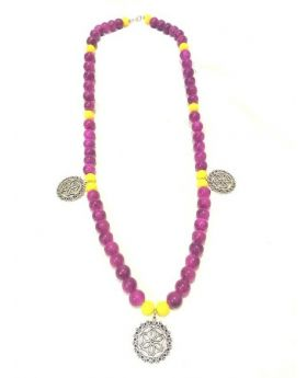 """Purple long necklace """