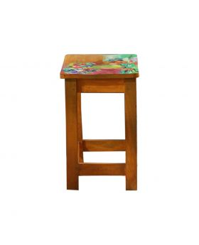 Hand Painted Wooden Tea Table Desing No 1