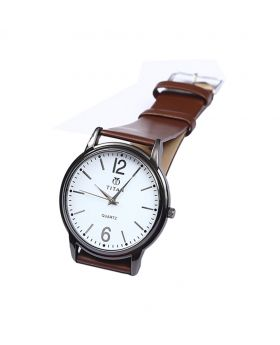 Titan TT02101-0067 Stainless Steel  Leather  Belt Analogue Watch For Men