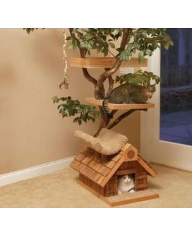 DIY wood craft Cat Home