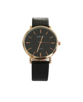 Halei EW0058 Stainless Still Leather Belt Analogue Watch For Men