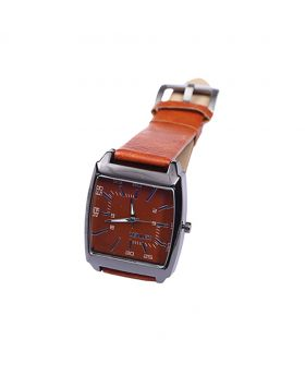Xenlex XX02201-0068 Stainless Steel  Leather  Belt Analogue Watch For Men